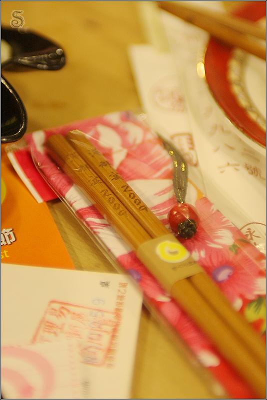 贈送的竹筷,只要有參加有可以拿到