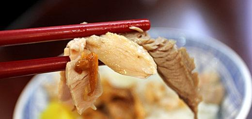 雞肉軟,肉質較為鬆散與乾一些...