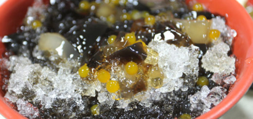 仙草冰,這是飯後贈送的甜點