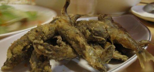 炸柳葉魚,猜測有回鍋,有油味