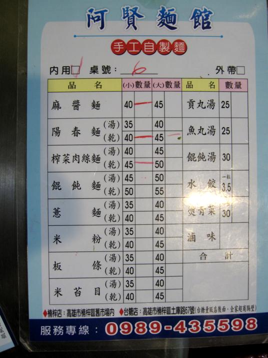 菜單,價格在50元之內,以麵類為主