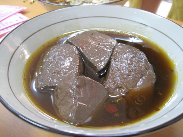 麻辣鴨血,可惜的是鴨血一整個沒有入味,中間沒有麻辣感覺,更無湯頭的香....