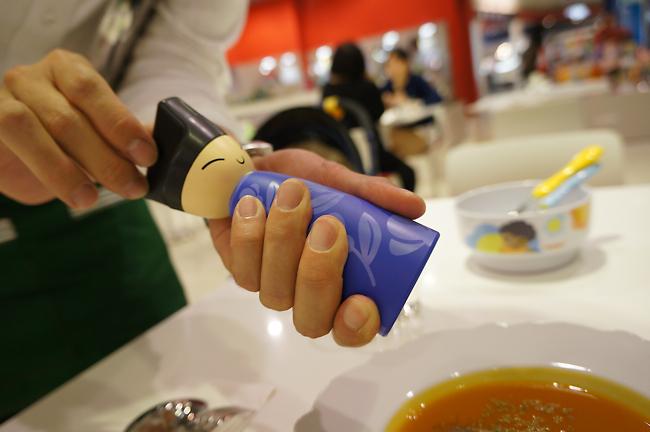 最特別就是這個胡椒罐了吧!據說全場只有二支,且必須由服務生協助..XD  好可愛的罐子啊!!!