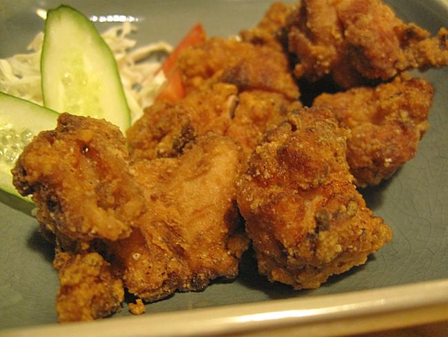 日式炸雞,入口有一點點鹹味