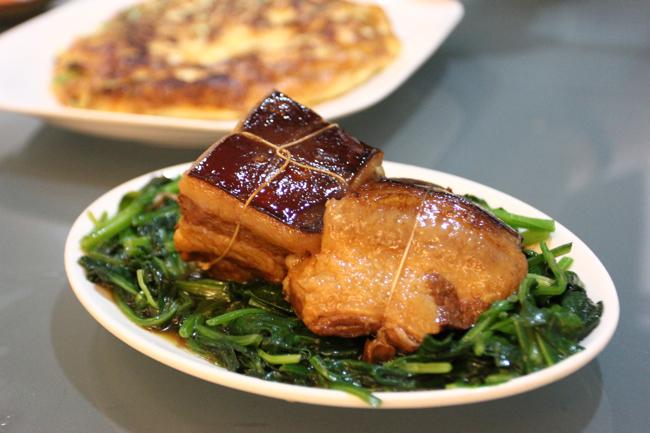 東坡肉,可惜肥肉多了些,肉也乾了些...