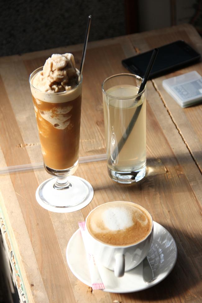 咖啡冰沙+熱咖啡