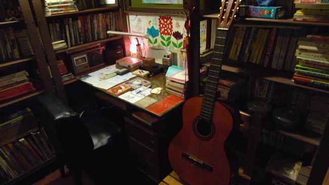 這書房讓人感覺有種懷舊,卻又有點現代的感受...