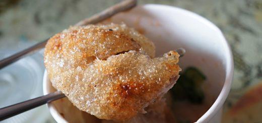 皮,確實很酥皮!整個都酥酥脆脆的,第一口很像吃鹽酥雞的感受....皮不是只有表皮脆,是整個麵粉皮都是脆的