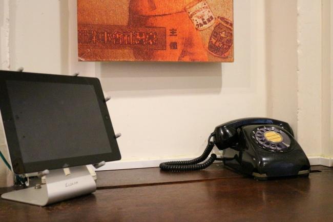 有部分位置很特殊,前方有老電話,又有ipad,這是時代的眼淚..XD